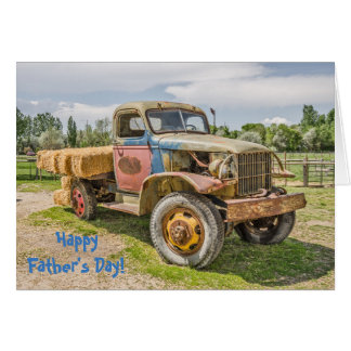 Truck of Many Colors - Fathers; Dads; Truck Lovers Card