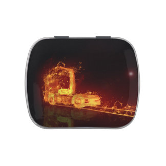 Truck on Fire! - Candy Tin