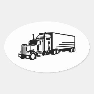 Truck Oval Sticker