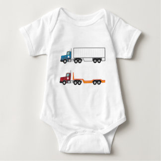 Truck semi and flatbed baby bodysuit
