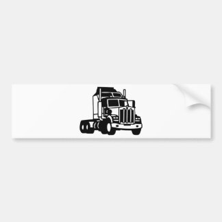 TRUCK semi trailer trucker  american Bumper Sticker