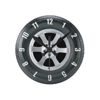 Truck Tire Lorry Tyre Truckers Art Clock