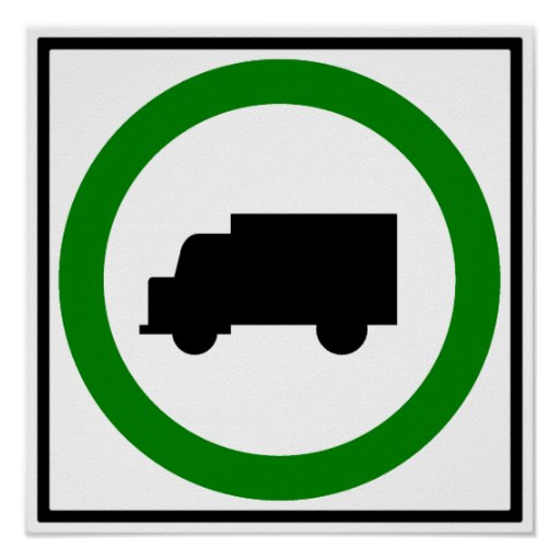 Truck Traffic Permitted  Highway Sign