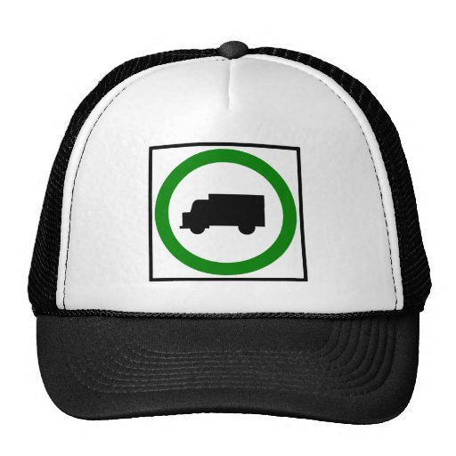 Truck Traffic Permitted  Highway Sign Trucker Hats