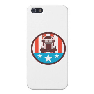 Truck USA Flag Circle Retro iPhone 5 Covers