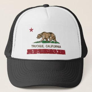 truckee california state flag trucker hat