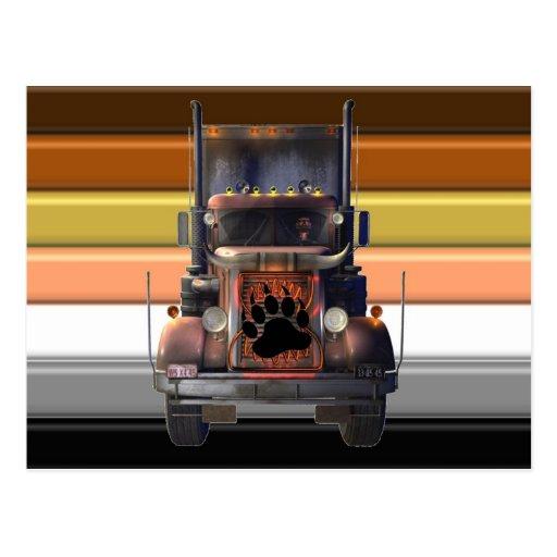 Trucker Bear Pride Post Cards