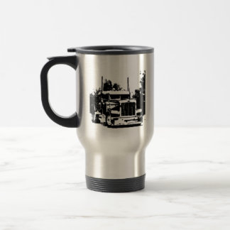 Trucker Black Silhouette Coffee Mug