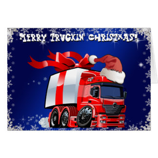 Trucker Christmas Card  PERSONALIZED