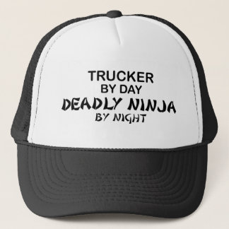 Trucker Deadly Ninja by Night Trucker Hat