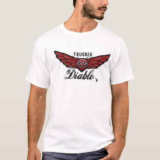 TRUCKER Diablo - T SHIRT - Customized with Back Pr