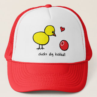 Trucker Hat - Chicks Dig Kickball
