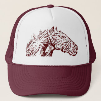 Trucker Hat Maroon 2