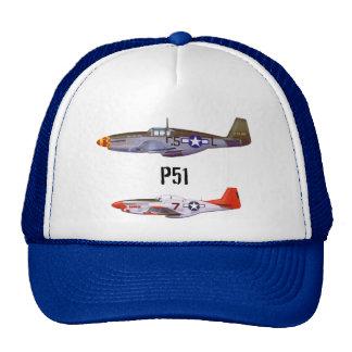 Trucker Hat p51 fighter planes by highsaltire