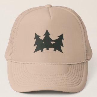 Trucker Hat with Fir trees