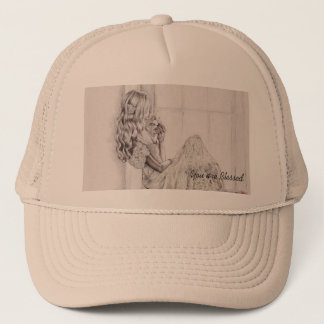 Trucker Hat with Girl: You are Blessed