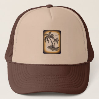 Trucker Hat with Palm trees