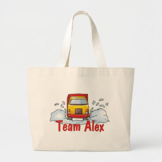 Trucker Tees and Gifts Team Alex Large Tote Bag