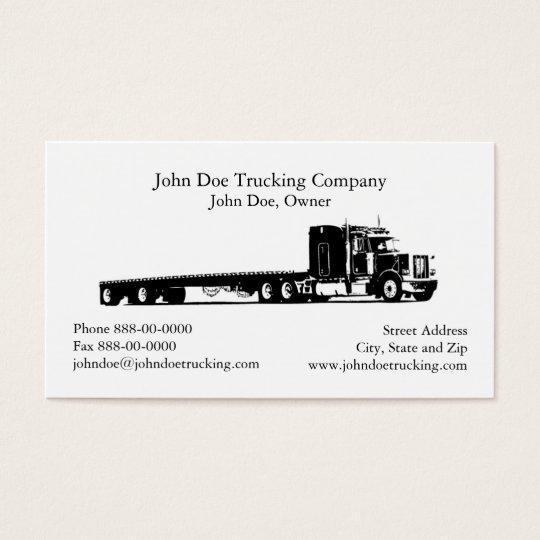 trucker trucking business card zazzle