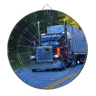 Truckers, Big Rig Cargo Truck Art Dartboard