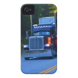 Truckers, Big Rig Cargo Truck Art iPhone 4 Case-Mate Cases