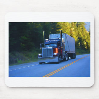 Truckers, Big Rig Cargo Truck Art Mouse Pad