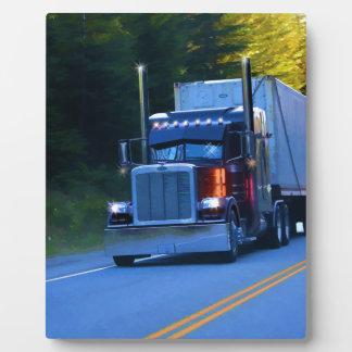 Truckers, Big Rig Cargo Truck Art Plaque