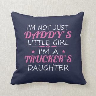 Trucker's Daughters Throw Pillow