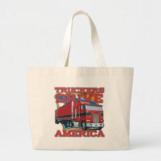 Truckers Drive America Jumbo Tote Bag