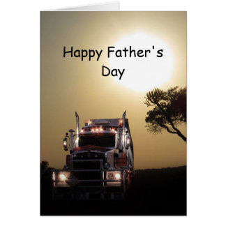 Truckers father's day card