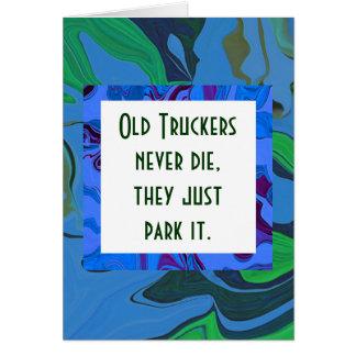 truckers humor card
