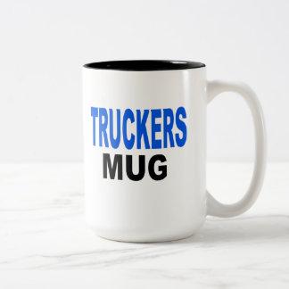 Truckers Mug, trucking gifts Two-Tone Coffee Mug