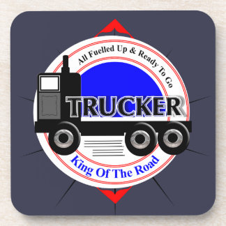 Truckers Novelty King Of The Road Graphic Drink Coasters