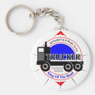 Truckers Novelty King Of The Road Graphic Keychain