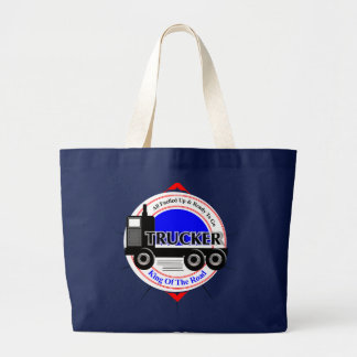 Truckers Novelty King Of The Road Graphic Large Tote Bag