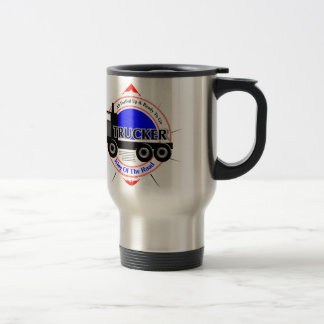 Truckers Novelty King Of The Road Graphic Travel Mug