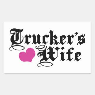 Trucker's Wife Sticker