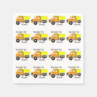 Truckin' for Jesus Patterned Paper Napkins