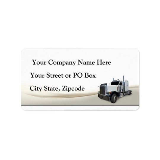 Trucking Company Label