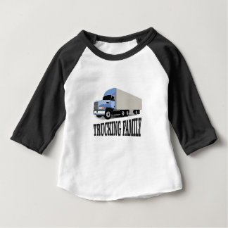 trucking family blue baby T-Shirt