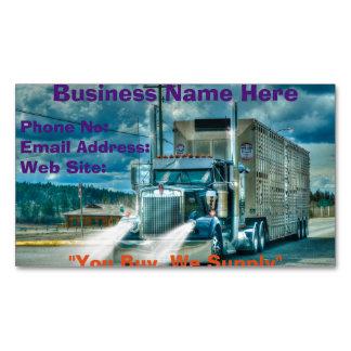 Trucking Firms Delivery Transport Biz Cards Business Card Magnet