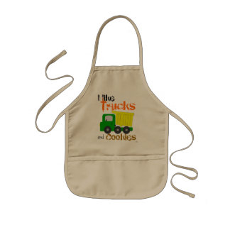 Trucks and Cookies (yellow) Kids Apron