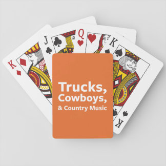 Trucks, Cowboys and Country Music Poker Deck
