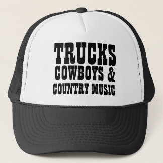 Trucks Cowboys and Country Music Trucker Hat