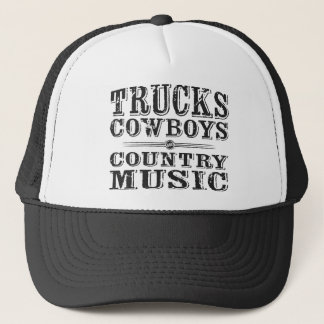 Trucks, Cowboys, and Country Music Trucker Hat