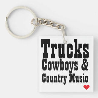 Trucks Cowboys & Country Music Key Chain