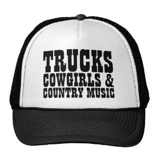 Trucks Cowgirls Country Music Trucker Hat