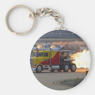 Trucks Engines Basic Round Button Keychain