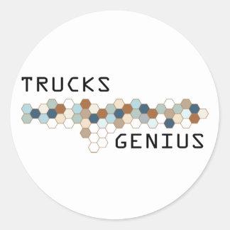 Trucks Genius Round Stickers