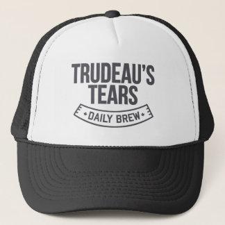 Trudeau's liberal tears daily brew MCGA Trucker Hat